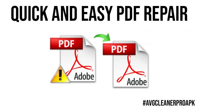 Quick and Easy PDF Repair